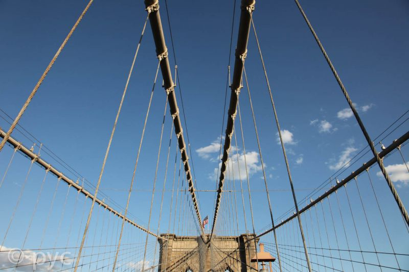 The sky above Brooklyn Bridge 1
